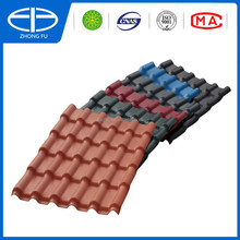 ASA coated spanish terracotta plastic PVC synthetic resin roof tile/ASA PVC roof tile