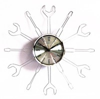 aluminium wall clock without battery