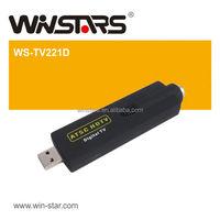 HOT USB 2.0 ATSC Digital DVB-T tuner card 12 Inch HDTV,USB ATSC TV Stick