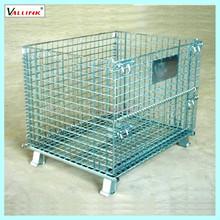 Folding metal box,metal turnover basket,storage cage