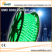 Flexible Dimmable Led Strip Lights 220V for Outdoor Use SMD 5050 60 Leds/M RGB Five Color Jump Single Core Aluminum Wire