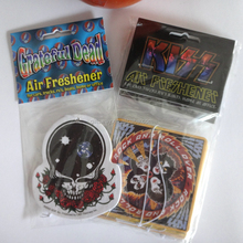 China Supplier flower scent car fresheners, scent paper card, advertising car paper freshener card
