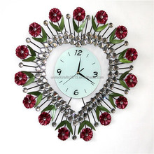 New products modern decorative sun shaped wall clock for home decor