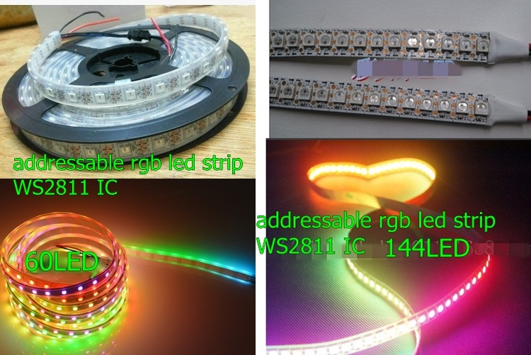 5v rgb led strip ws2801 ws2811 ws2812b 30led