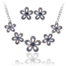 Austrian crystal jewelry, gold/platinum plated big costume jewelry sets 2015