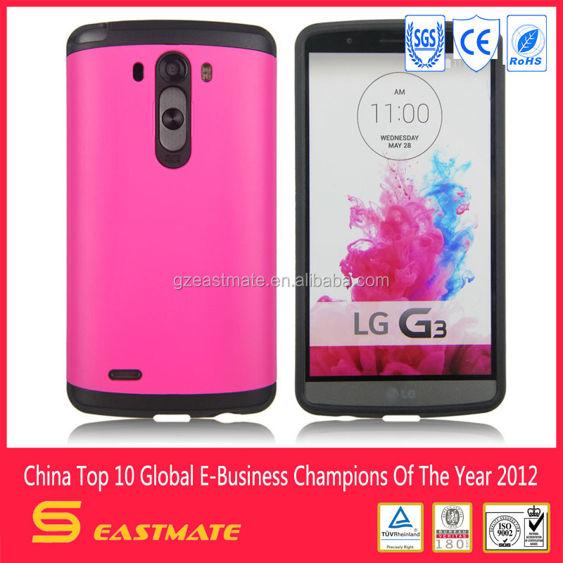 Cheap Mobile Phone Case for LG G3 with Plastic TPU material