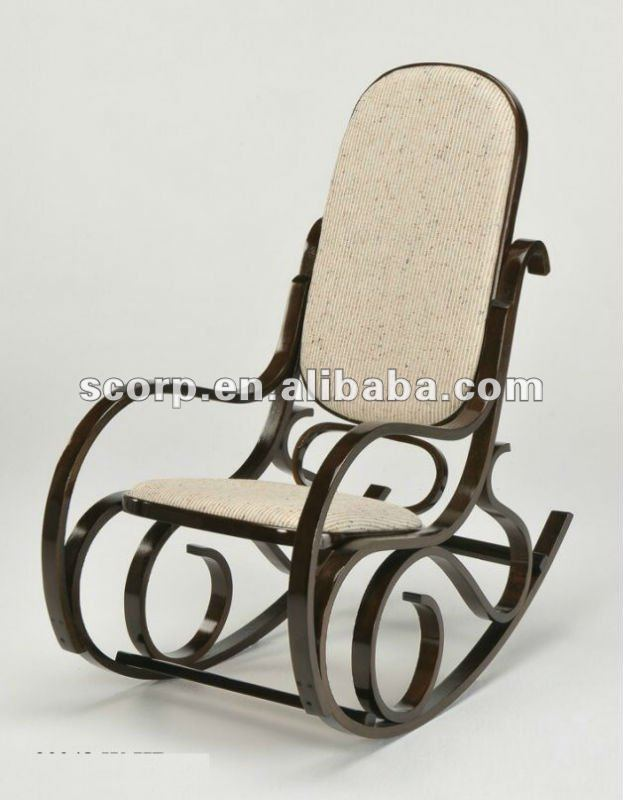 Bentwood rocking chair fabric cushion seat and back buy bentwood