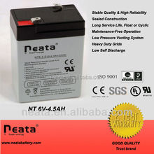6v 4.5ah dry charging battery