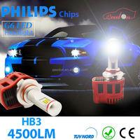 Qeedon new design super powerful car headlight auto led light h4 hl 4500lm low beam