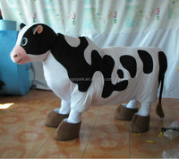 adult cow mascot costume/2 person cow costume/2 person costumes