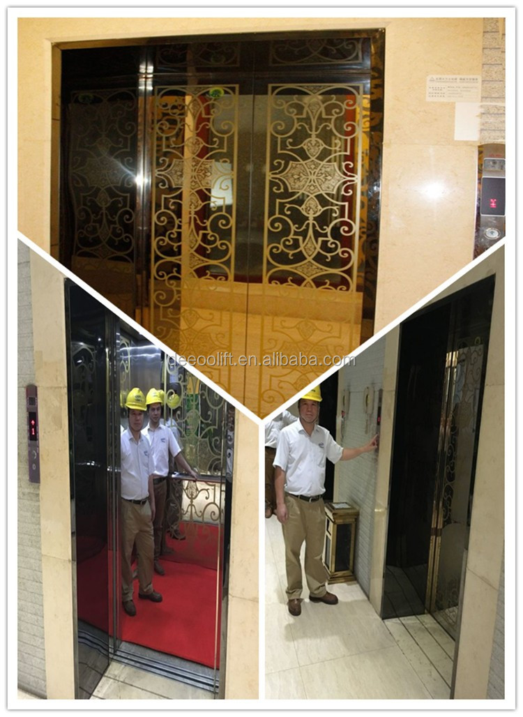 6 человек строительного стекла панорамный пассажирский лифт для цены в Китае