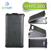 2014 Unique Business Style Thermoforming Flip Leather Mobile Phone Cover case for HTC Desire 600