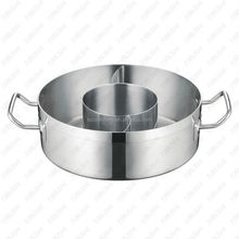 Stainless steel Three-flavor Hot Pot with Sandwich Bottom & Inner Pot (04style)