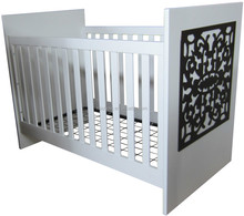Cubby Plan LMBC-104 high quality 3 in 1 baby cot white american baby nursery wooden lace crib