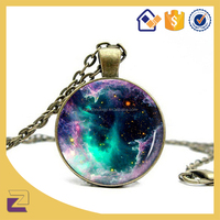 Custom Meaningful Pendant Necklace /Alloy, Glass Pendant Necklace For Teacher's Day Gifts