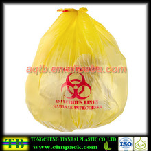 Yellow Infectious Linen High Density Isolation Medical Waste Bag