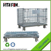 VITAFOM Hot sale wire mesh storage container with castors