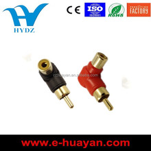 Right Angle RCA connector Male To Female 90 Degree audio video connector,adapter