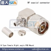 High frequency N Male Right angle Crimp connector