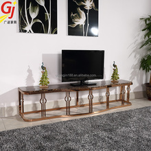 home furniture tv stand stainless steel and glass tv stand TV-9302