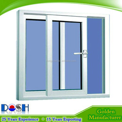 Factory Direct Sale UPVC White Color Sash Window with Double Glaze With Mosquito Screen for Sliding Window