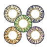 Big eye 3-tone color contact lens yearly disposable circle lenses