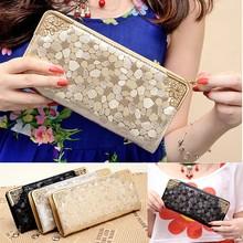 Luxury Women Zipper Wallet Leather Long Clutch Purses Card Holder wallets