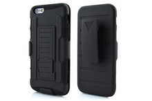 Luxury Tough Hybrid Armor Case for iPhone 6 4.7 6 Plus 5.5 inch Kickstand Lock Belt Clip Style