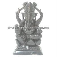 Indian marble Black Marble Ganesh Ganapati reglious Statue home decor