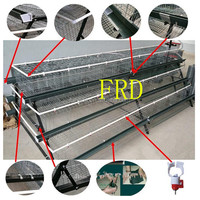 FRD-best selling different types of poultry house with A/H type layer cages