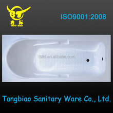 Factory made directly small cheap plastic portable acrylic fiberglass bathtub bathtub mat with pillow