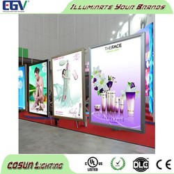 Wholesales Exhibition Hall high quality and high bright Customized Size Aluminum LED Snap Frame Light Box