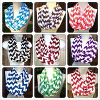 Top quality fashion new design hijab infinity chevron knitted silk scarf