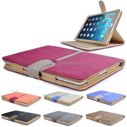 High Quality Suede Leather Smart Case,Tan Leather Case Cover For Ipad air ipad 5 with Sleep Wake