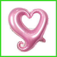 2015 yiwu new product foil inflatable hollow love balloons