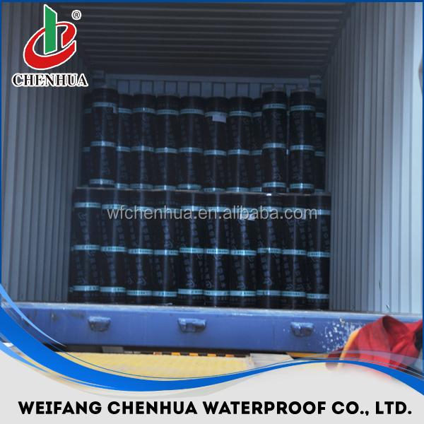 cheap 2/3/4mm SBS/APP bitumen waterproof membrane, roll building roof asphalt material / aluminum foil sheet