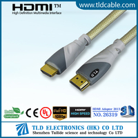 dual color molding 1.4 hdmi to hdmi cable with nylon for PC