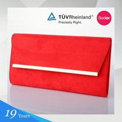 Hot Quality Simple Design Cheap Prices Sales Red Designer Brand Name Purse