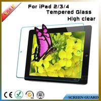 tempered glass screen protector guard for ipad 2 3 4 ,Asahi 9H ultra slim ultra smooth