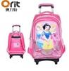 Wholesale Fashion pink travel trolley children school bag for kids