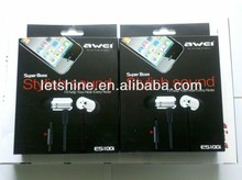 New Arrival Awei ES100i 3.5mm In-ear Earphone for Ipod Iphone MP3 MP4
