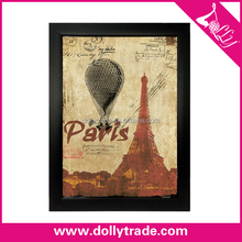 Hot Air Balloon and Pairs Eiffel Tower Wholesales Antique Decorative Plastic Photo Picture