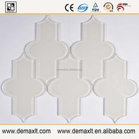 Beautiful shape high quality Demax manufacture Water jet glass tile