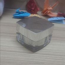 guangzhou high value 30g square plastic acrylic cosmetic cream golden plastic jar