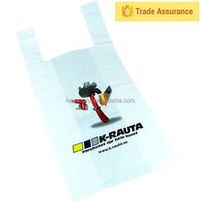 Goods from china China New Innovative Product printed white t-shirt bag,poly cheaper t-shirt bag,hdpe plastic t shirt bag