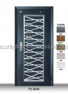 P1W34 Iron Grille Security Door Made from Malaysia