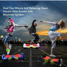 LED light Bluetooth speaker Personal Transporter 2 Wheels Self Balancing Scooters Drifting Board Hover board Electric