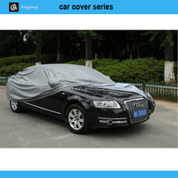 Factory OEM high quality folding silver polyester sun car cover