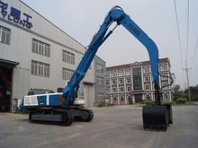 Dual-power hydraulic crawler grabbing material handler