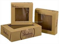 plastic cake slice box packaging kraft paper cake box